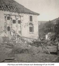 Ansicht des alten Pfarrhauses